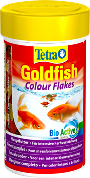 Корм для золотых рыб Tetra GOLDFISH COLOR FLAKES /хлопья/ 100 мл. - фото 19832