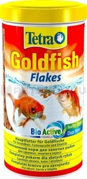 Tetra GOLDFISH FLAKES 1 л, корм в хлопьях для золотых рыб - фото 19893