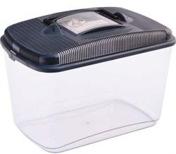 Переноска-отсадник пластиковая Pet Inn Amber maxi 19,8x31,2x22,4 см. - фото 20087