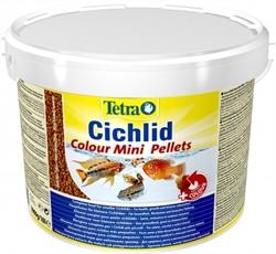 Корм для цихлид Tetra CICHLID COLOUR MINI /мелкие мульти шарики для усиления окраски/ 10 л. - фото 20191