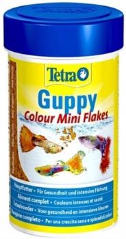 Корм для гуппи Tetra GUPPY COLOUR MINI FLAKES /хлопья для усиления окраски/ 100 мл. - фото 20212