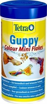 Корм для гуппи Tetra GUPPY COLOUR MINI FLAKES /хлопья для усиления окраски/ 250 мл. - фото 20213