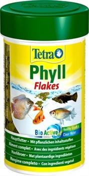 Корм для растительноядных рыб Tetra PHYLL /хлопья/   100 мл. - фото 20226