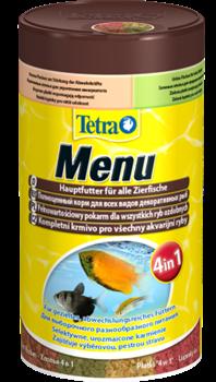 Корм для рыб Tetra MENU 100 мл. /из 4-х различных видов мелких хлопьев/ - фото 20228