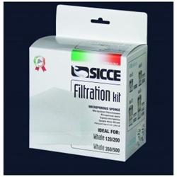Фильтрующие губки для внешнего фильтра Sicce WHALE 350-500 (3 шт.) - фото 20495