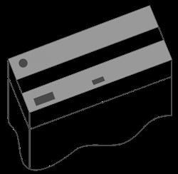 Комплект пластиковых крышек 150х50 см. для Juwel Rio 450, 2 шт., черный - фото 20575