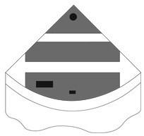 Комплект пластиковых крышек для Juwel Trigon 350, черный - фото 20579