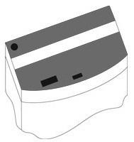 Комплект пластиковых крышек для Juwel Vision 180, черный - фото 20580