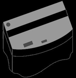 Комплект пластиковых крышек для Juwel Vision 450, 2 шт., черный - фото 20582