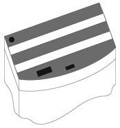 Комплект пластиковых крышек для Juwel Vision 450, 3 шт., черный - фото 20583