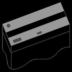 Комплект пластиковых крышек 120х50 см. для Juwel Rio 350, 2 шт., черный - фото 20585