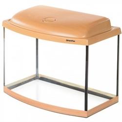 Аквариум Аква Плюс Ф50, 46 л. LED 50х30х35 см. /бук/ /дуговой/ - фото 20611