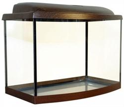 Аквариум Аква Плюс Ф50, 46 л. LED 50х30х35 см. /венге/ /дуговой/ - фото 20612