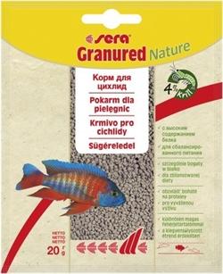Корм для цихлид плотоядных Sera GRANURED   20 г. (пакетик) (улучшает окраску) - фото 20887