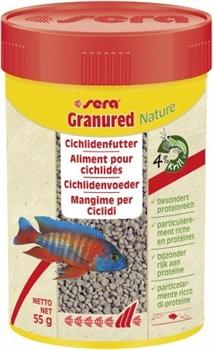 Sera GRANURED корм для цихлид плотоядных 100 мл. 55 г. (улучшает окраску) - фото 20889