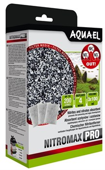 Фильтрующий материал Aquael NitroMAX Pro 3х100 мл. /химический поглотитель NO2 и NO3 в виде ионообменной смолы/ - фото 31055