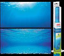 Фон пленка-постер Juwel /голубая вода/  60х30 см.