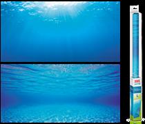 Фон пленка-постер Juwel /голубая вода/ 100х50 см.