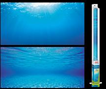 Фон пленка-постер Juwel /голубая вода/ 150х60 см.