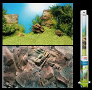 Фон пленка-постер Juwel /камни-растительный/ 100х50 см.