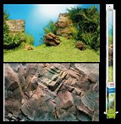 Фон пленка-постер Juwel /камни-растительный/ 150х60 см.