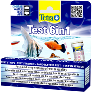 Тест для аквариумной воды Tetra TestStrips 6 in1 /GH, KH, NO2, NO3, PH+Cl2/ 25 полосок.