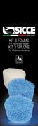 Фильтрующий материал для фильтра Sicce SHARK ADV /губки: 2 голубые и 1 белая/