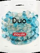 Украшения для аквариума стеклянные Zolux Дуо (голубой и прозрачный), 472 г.