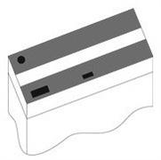 Комплект пластиковых крышек 100х40 см. для Juwel Rio 180, 2 шт., черный