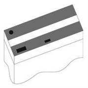 Комплект пластиковых крышек 120х40 см. для Juwel Rio 240, 2 шт., черный
