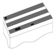 Комплект пластиковых крышек 120х50 см. для Juwel Rio 300, 3 шт., черный