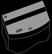 Комплект пластиковых крышек для Juwel Vision 450, 2 шт., черный