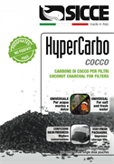 Наполнитель для фильтров Sicce HYPERCARBO COCCO уголь кокосовый (2x150 г)