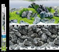 Фон пленка-постер Juwel /акваскейпинг-камни/ 100х50 см.