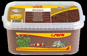 Грунт Sera для аквариума Gravel Brown (Коричневый) 2-3 мм. 3 л.