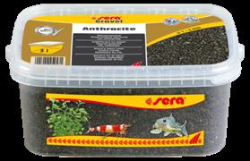 Грунт Sera для аквариума Gravel Anthracite (Антрацит) 1-3 мм. 3 л.