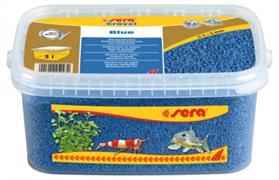 Грунт Sera для аквариума Gravel Blue (Голубой) 2-3 мм. 3 л.