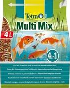 Корм для прудовых рыб Tetra Pond MULTI MIX /смесь из палочек, хлопьев, таблеток и гаммаруса/ 4 л. (760 г.)