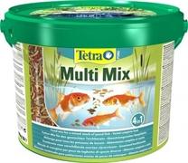 Корм для прудовых рыб Tetra Pond MULTI MIX /смесь из палочек, хлопьев, таблеток и гаммаруса/ 10 л. (1,9 кг.)