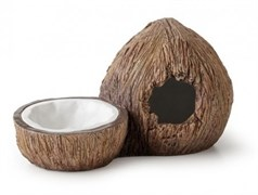 Поилка с укрытием кокос Exo Terra Coconut Hide & Water Dish 14х24х13 см.