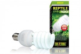 Лампа Exo Terra Reptile UVB100 Compact 5.0, 25 W