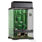 Террариум Exo Terra из силикатного стекла, 30х30х45 см. /с бамбуковым фоном и светильником без ламп + мох коврик, термометр, гигрометр/
