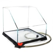 Repti Zoo Акватеррариум 350*350*(150)320 мм., стекло 6 мм., с системой быстрого слива воды