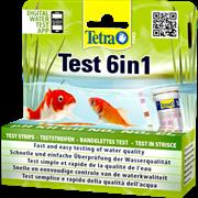 Тест для прудовой воды TetraPond Quick Test 6in1 набор экспресс-полосок pH, GH, KH, NO2, NO3, Cl