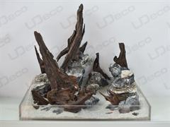 """UDeco Mini Landscape MIX SET 12 - Натуральный камень """"Мини-ландшафт"""" для оформления аквариумов и террариумов, набор 12 кг."""