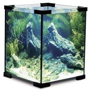 Аквариум Laguna Crystal 6002B, 18 л, черный, 25х25х30 см