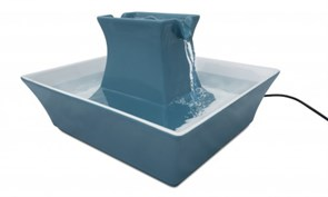 Автоматическая поилка для кошек и собак Petsafe Drinkwell Pagoda керамическая /синяя/