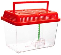 Переноска Barbus Box 009 с пластиковой крышкой, островком и пальмой 27х17х16 см.