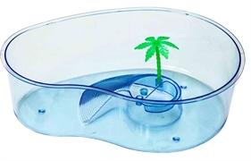 Черепашник  Barbus КАПЛЯ Box 012 с островком и пальмой 32х23х9,5 см.