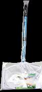 JBL Pond fish net short - Прудовый сачок 30,5 x 20,5 см. с телескоп. ручкой 90 см, мелк. бел. сетка